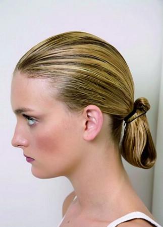 古装马尾发型步骤图解