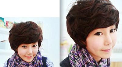 适合精明干练女生的清爽短发发型图片