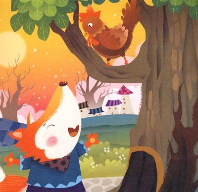 讲述狐狸和公鸡的寓言故事