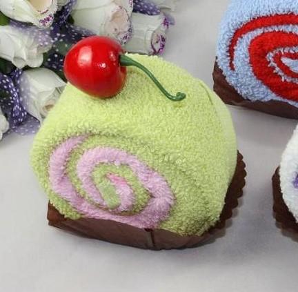 超萌超实用蛋糕毛巾创意新奇