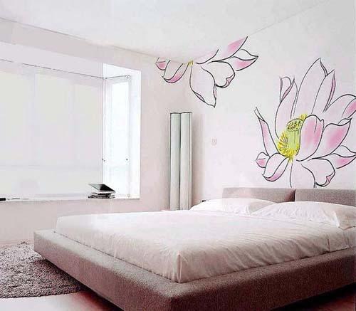 卧室床衣柜合体手绘