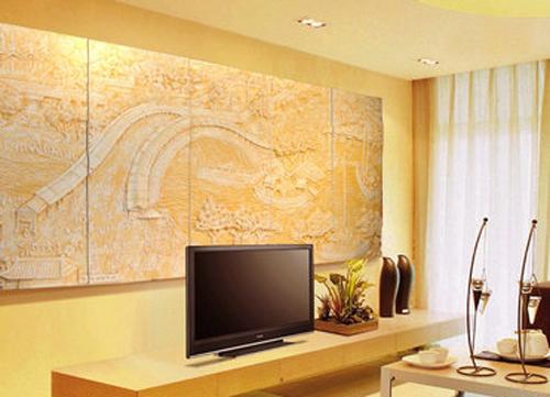电视墙艺术漆图