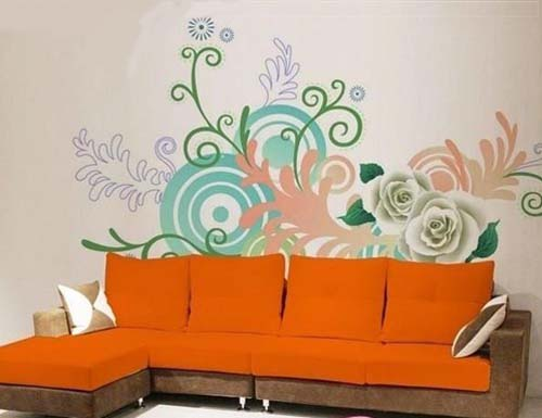 根据室内风格 墙体彩绘色彩搭配和客户需求