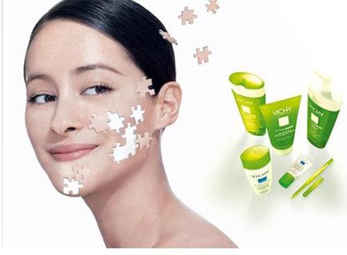 薇姿品牌首创将护肤品按照女性的皮肤类型来油性