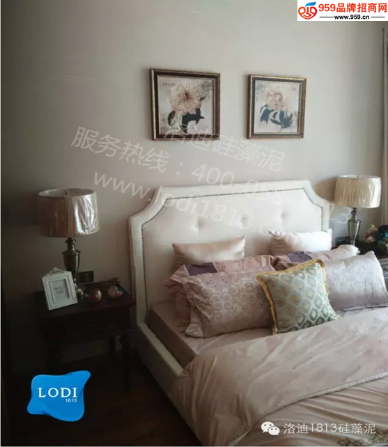 欧式卧室床  配 硅藻泥图案大全