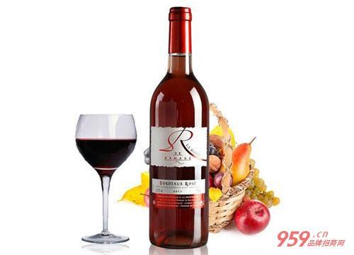 玫瑰红葡萄酒图片