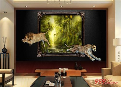 欧克丽3D背景墙加盟