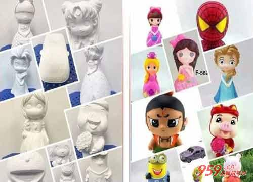 小本创业做什么好?创绘DIY石膏娃娃彩绘投资小 利润大!