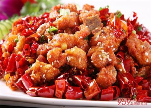 麻辣干锅鸡美食