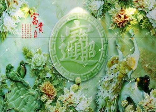 五彩文背景墙