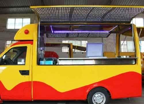 移动餐车加盟哪家好 投资口水码头美食餐车轻松做生意
