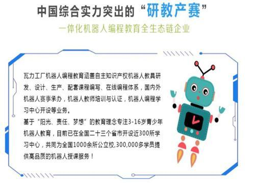 做教育生意怎么样 投资加盟瓦力工厂机器人教育利润高吗
