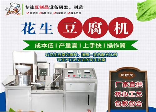 豆功夫花生豆腐机实力出众 投资食品机械的优质之选