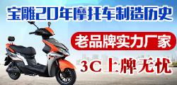 宝雕电动摩托车 3C认证企业 出口品质