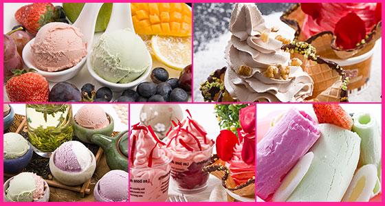 可爱雪冰淇淋